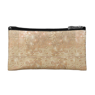 Gold Sequin Bagette Bag Makeup Bag