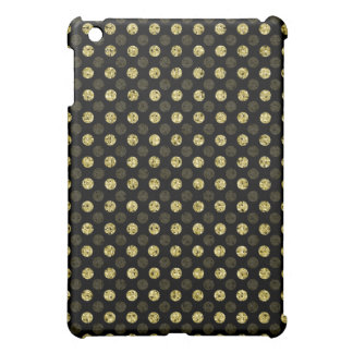 Gold Sequin Effect Dots - Dark Cover For The iPad Mini