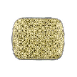 Gold Sequin Effect Jelly Belly Tins