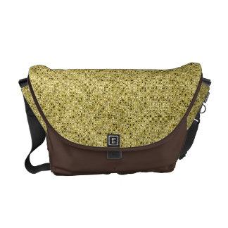 Gold Sequin Effect Rickshaw Messenger Bag