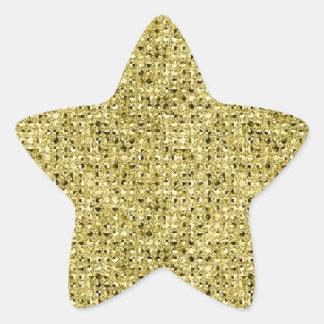 Gold Sequin Effect Star Sticker Sheets