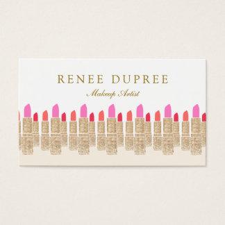 Gold Sequin Lipstick Makeup Artist Beauty Salon 5