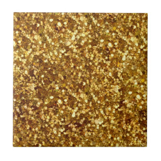 Gold sequin look tile