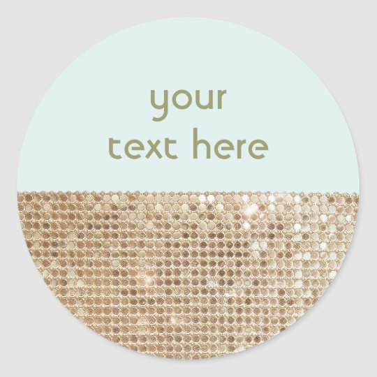 Gold Sequined Customisable Sticker