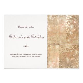 Gold Sequins 30th Birthday Blush Pink 13 Cm X 18 Cm Invitation Card