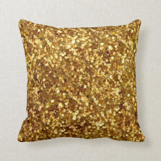 Gold sequins pillow
