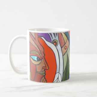 gold shaman basic white mug