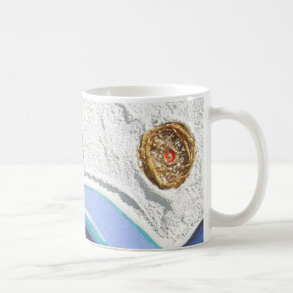 gold shaman detail basic white mug