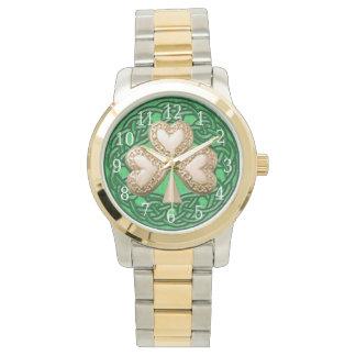 Gold Shamrock Watch