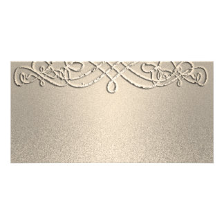 Gold Shimmer Glitter Template Custom Customized Photo Card