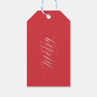 Gold Shimmer Merry Christmas Gift Tag