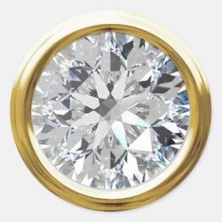 Gold Shiny Diamond Envelope Seal