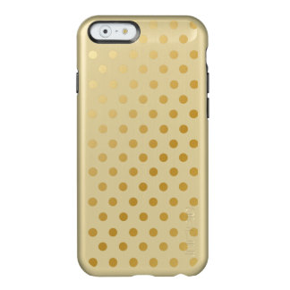 Gold Shiny Polka Dots Pattern Incipio Feather® Shine iPhone 6 Case