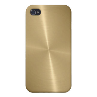 Gold Shiny Stainless Steel Metal 3 Case For The iPhone 4