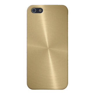 Gold Shiny Stainless Steel Metal 3 iPhone 5/5S Cover