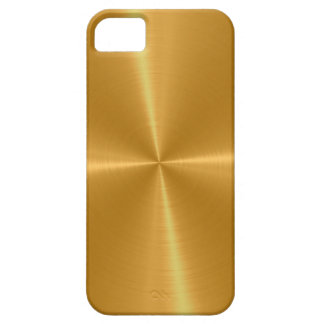 Gold Shiny Stainless Steel Metal Barely There iPhone 5 Case
