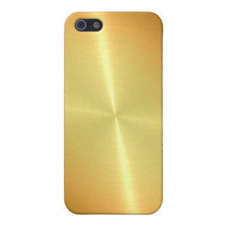 Gold Shiny Stainless Steel Metal iPhone 5 Covers