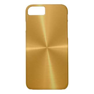 Gold Shiny Stainless Steel Metal iPhone 8/7 Case