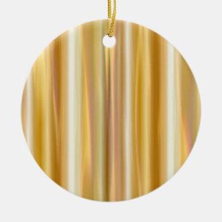 Gold Silk Curtain Christmas Ornament