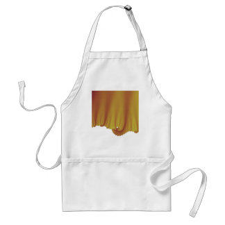 Gold Silk Drapes Standard Apron