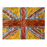 Gold Silver Bronze London British Flag Sports Post Cards