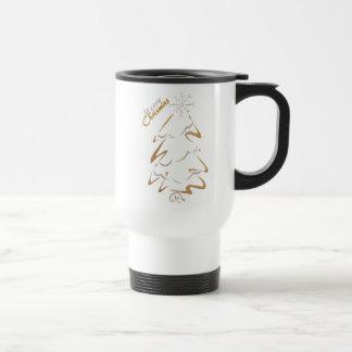 Gold & Silver Chrismas Tree Travel Mug