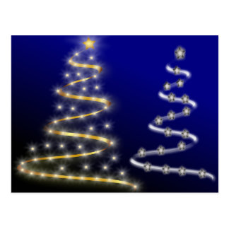 Gold & Silver Christmas Trees - Postcards