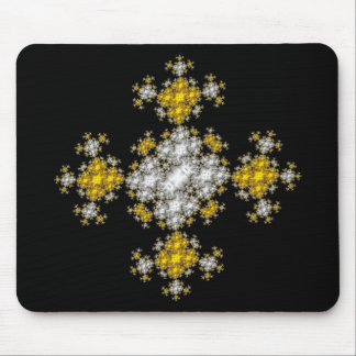 Gold Silver Cross Mouse Pad