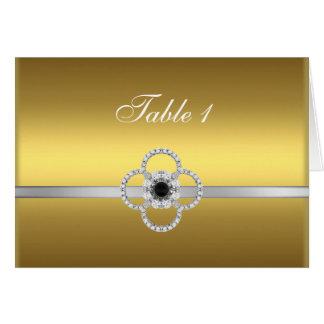 Gold Silver Diamond Black Jewel Table Card 1