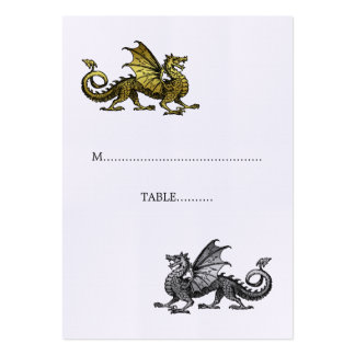 Gold Silver Dragon Wedding Place Card Pack Of Chubby Business Cards