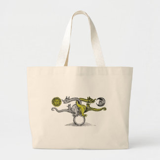 Gold & Silver Dragons Tote Bags