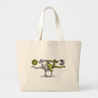 Gold & Silver Dragons Jumbo Tote Bag