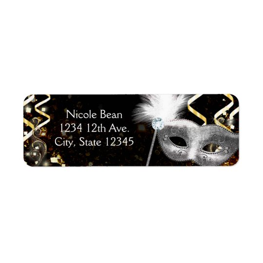 Gold & Silver Masquerade Mask Birthday Party