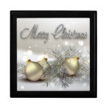 Gold & Silver Shimmer Christmas Ornaments Large Square Gift Box