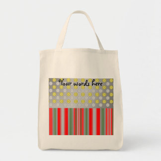 Gold silver snowflakes in circles on silver tote bags
