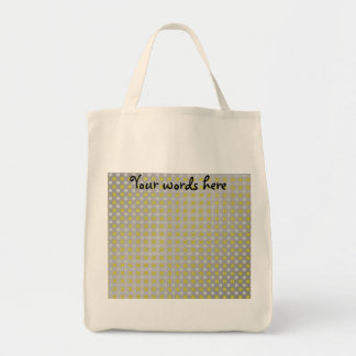 Gold silver snowflakes on silver tote bag