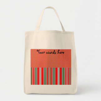Gold silver snowflakes on stripes tote bag