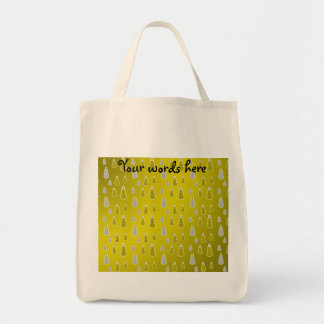 Gold silver snowmen on gold fade bags