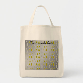 Gold silver snowmen on silver fade canvas bags