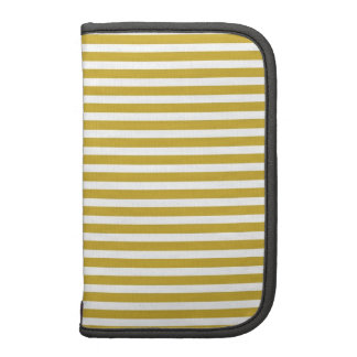 Gold Skinny Stripe Folio Planner