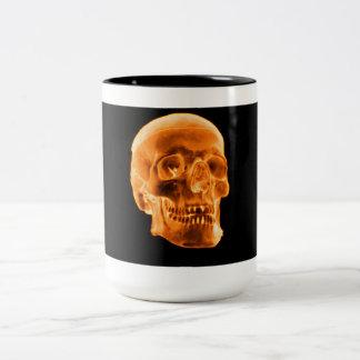 Gold Skull coffee mug