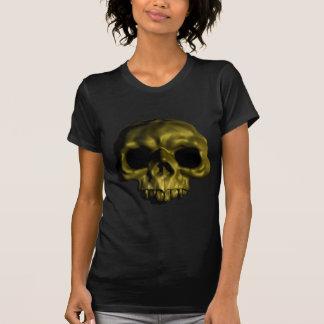 Gold skull emblem illustration T-Shirt