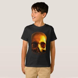Gold Skull Mind Black T shirt Kids