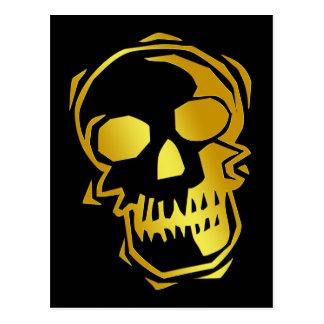 GOLD SKULL POSTCARD