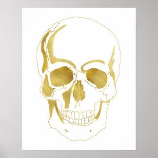 Gold Skull Poster
