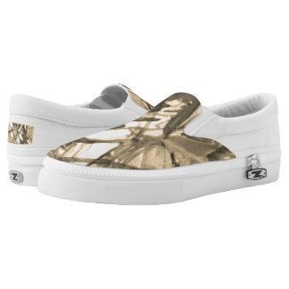 Gold Slip On Shoes
