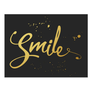 Gold Smile Quote Postcard