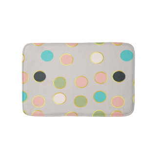 gold smoked polka dots bath mat