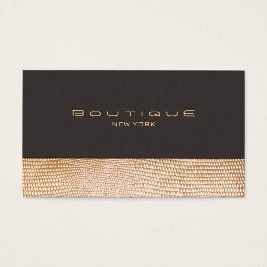 Gold Snake Skin and Suede Fashion Boutique Business