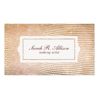 Gold Snakeskin Makeup Artist Beauty Double-Sided Standard Business Cards (Pack Of 100)